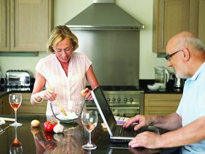 Mature couple in their kitchen